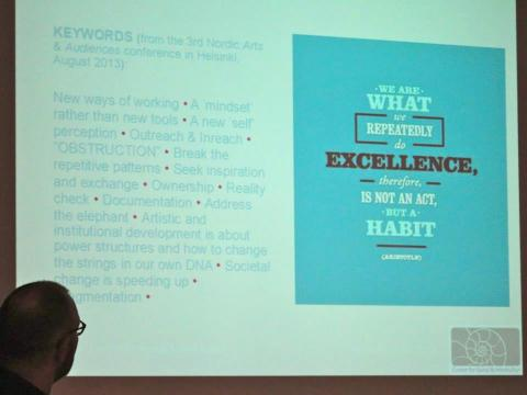 """Keywords from the 3rd Nordic """"Arts and Audiences"""" Conference held in Helsinki, Finland in 2013."""